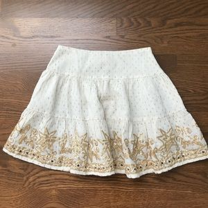 RAGA white and gold miniskirt